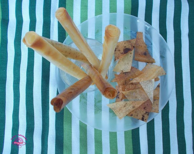 Dulces felicidades: Rosquilletas especiadas y nachos de masa filo