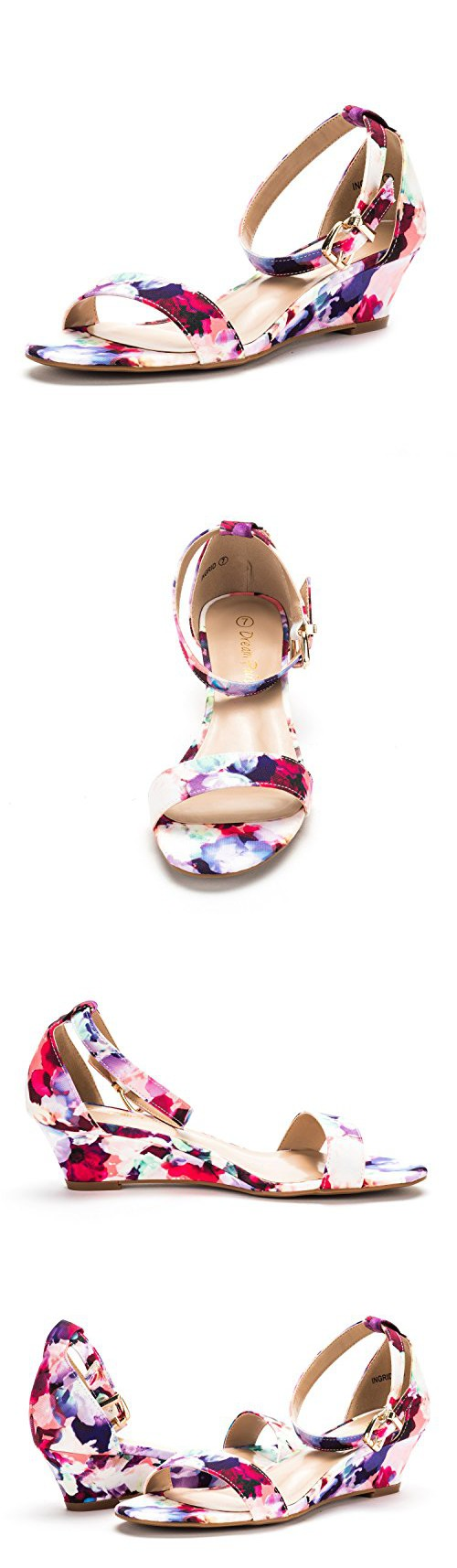 498073f88324bb DREAM PAIRS iNGRID New Women Fashion Wear Summer Open Toe Ankle Strap  Buckle Thong Design Low