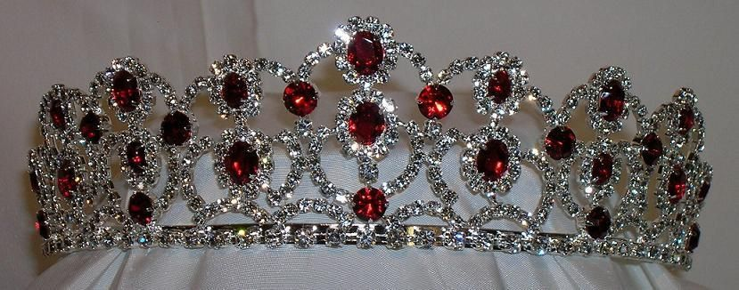 The Scarlet Royal Empress Rhinestone Beauty Pageant Crown Tiara