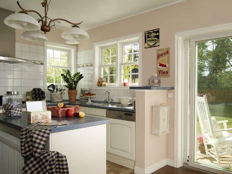 Amerikanische Häuser, Wohnküche, Foto BostonHaus American - kamin in der wand amerikanisch