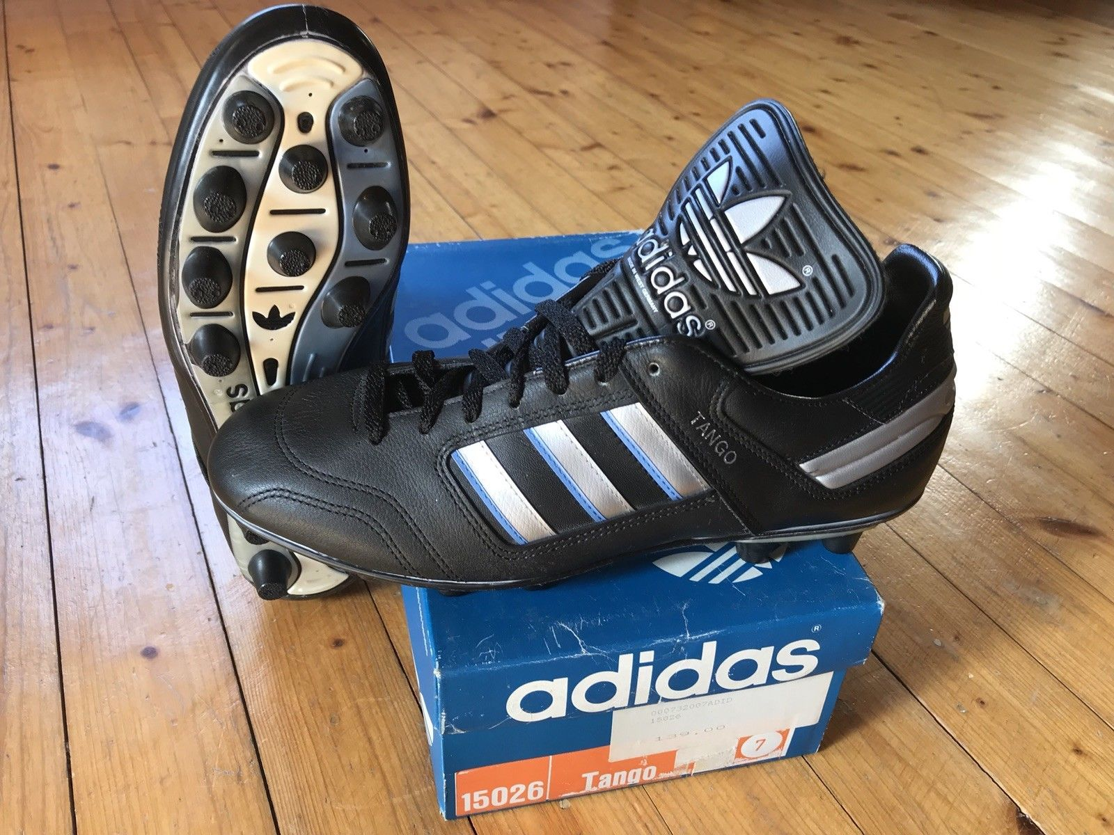 Vintage Adidas Tango 7 soccer boots Made in West Germany WC
