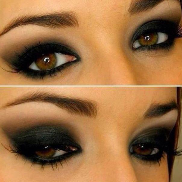 Steampunk smokey eye