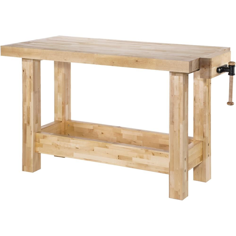 "60"" X 30"" Heavy-Duty Birch Workbench At"