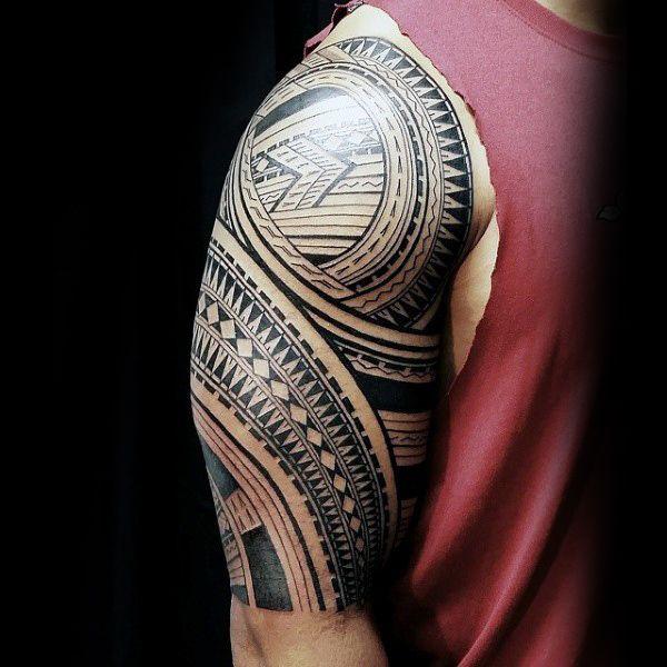 Male Maori Tribal Tattoos Full Body: 90 Samoan Tattoo Designs For Men