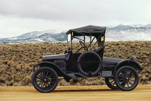 Black 1914 Model T Ford Side View With Images Model T Ford