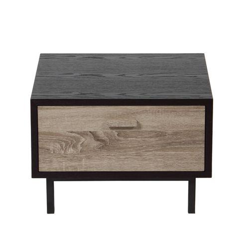 chevet en bois gris et m tal 2 mod les new forest c t table meubles pinterest bois gris. Black Bedroom Furniture Sets. Home Design Ideas