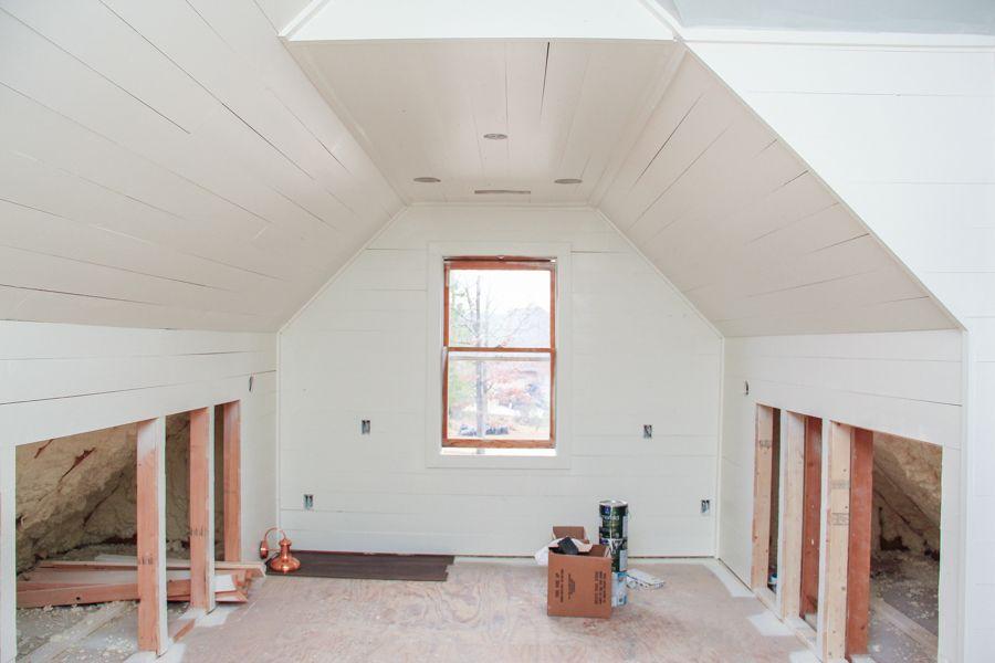 Attic Renovation With Shiplap Attic Remodel Attic Renovation New Homes