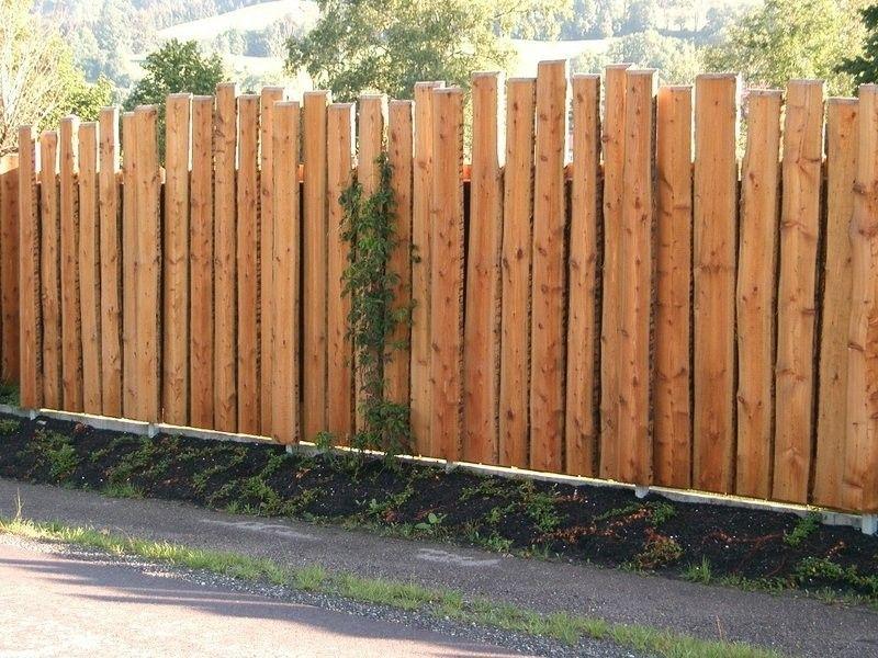 Gartenzaun Holz Mit Lucken Garten Terassenideen Sichtschutz Garten