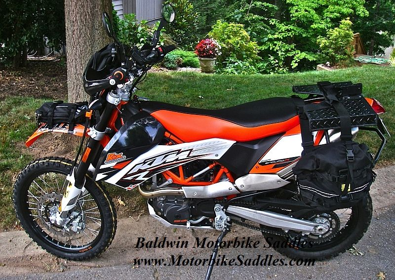 ktm 690 enduro r custom seatbaldwin motorbike saddles image 4
