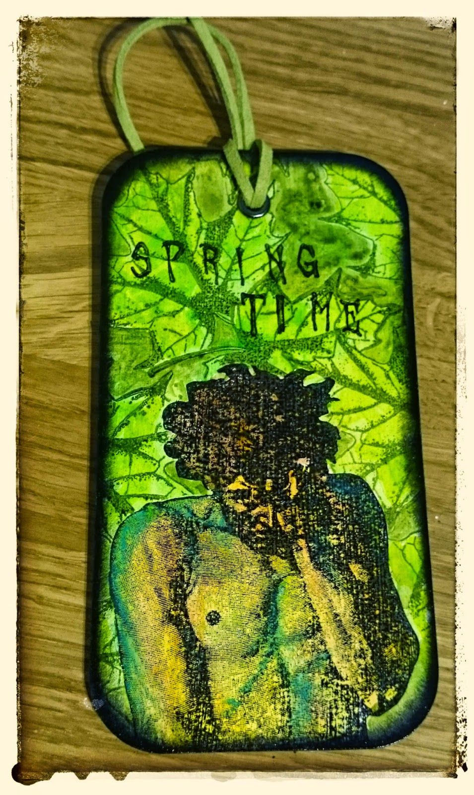 De Stempelwinkel - Designteam      : Green Man Spring Tag