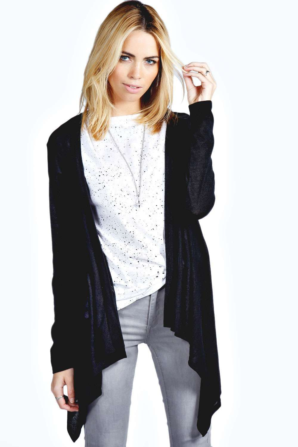 Boohoo Olivia Waterfall Cardigan - on Vein - getvein.com | Jumpers ...