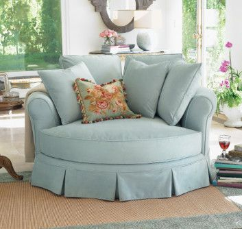 I could see me snuggled up in this chair with a good book (or my sweetie)