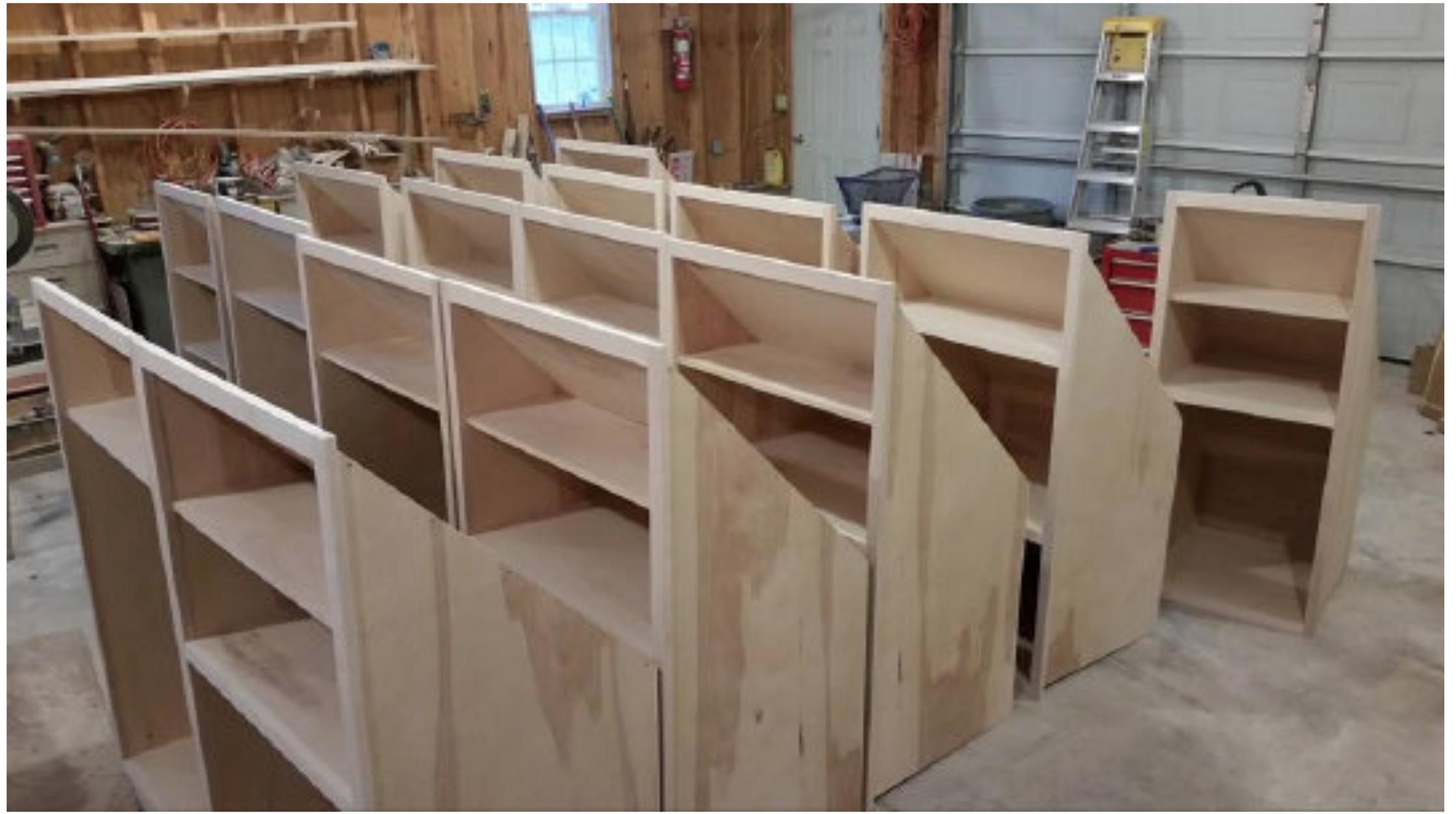 Knee Wall Cabinets