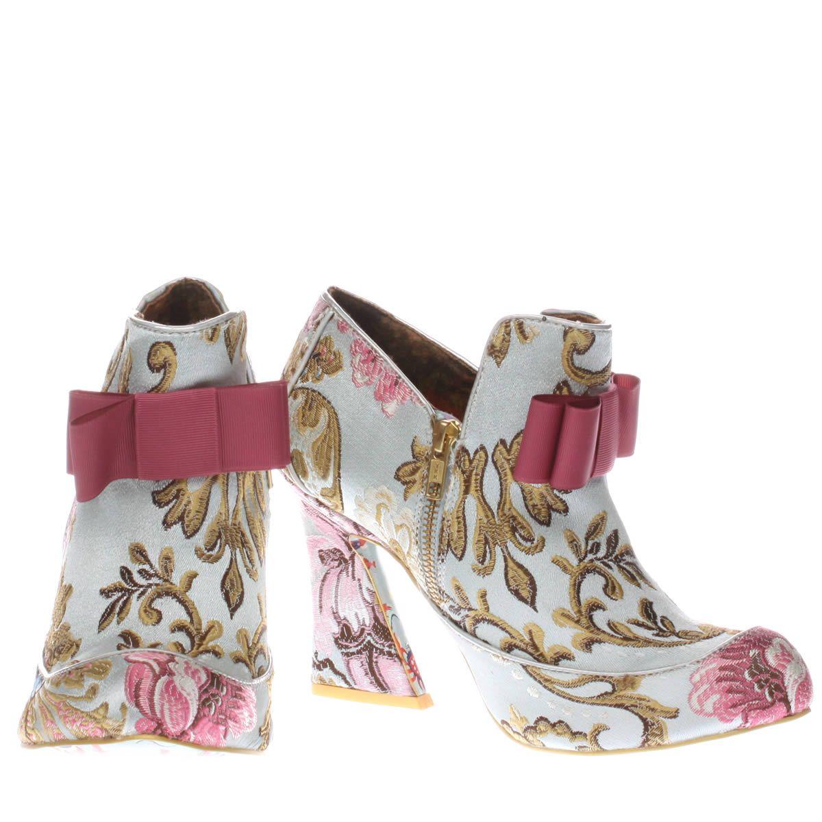 womens irregular choice pale blue lovingly gazing boots
