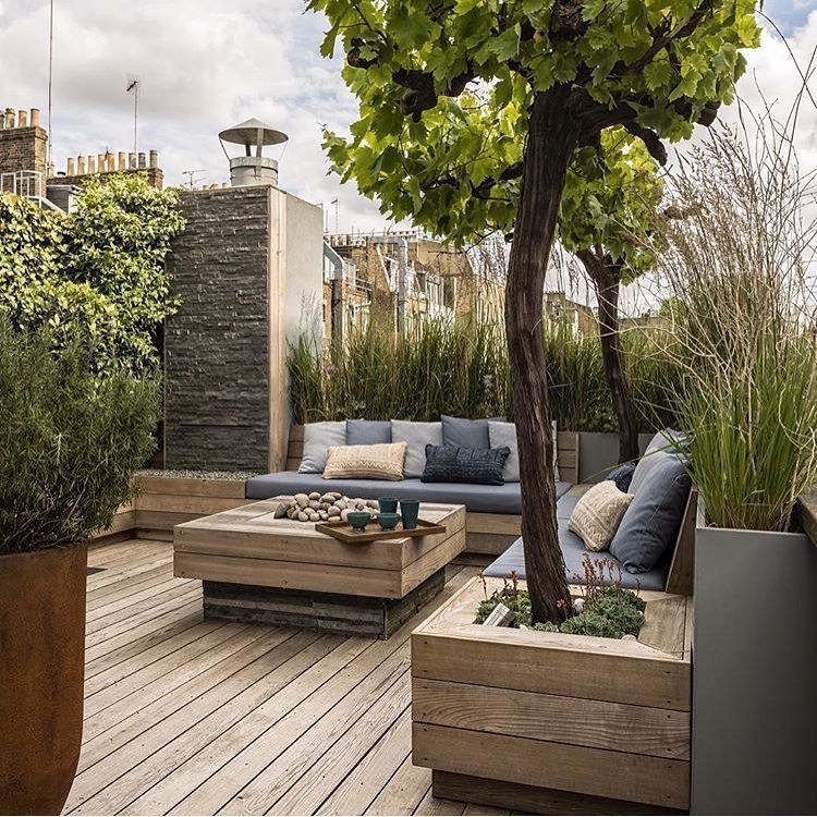 Photo of Roof terrace in a modern country style. A remote place to see nature in a … – Vine Ideas