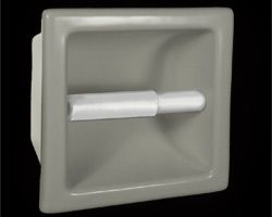 Hcp Industries Item Tt66r Recessed Ceramic Toilet Paper Holder Nominally 6x6 But Specs Vis Bathroom Accessories Shower Tile Toilet Paper Holder