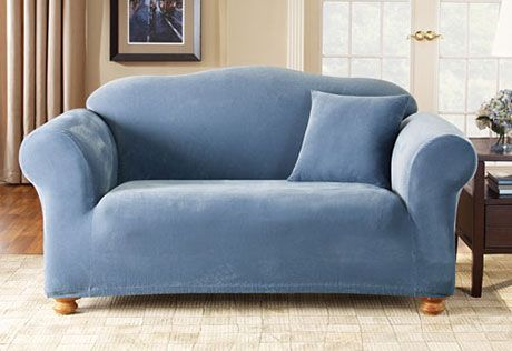 sure fit slipcovers stretch pique one piece loveseat spring rh pinterest com