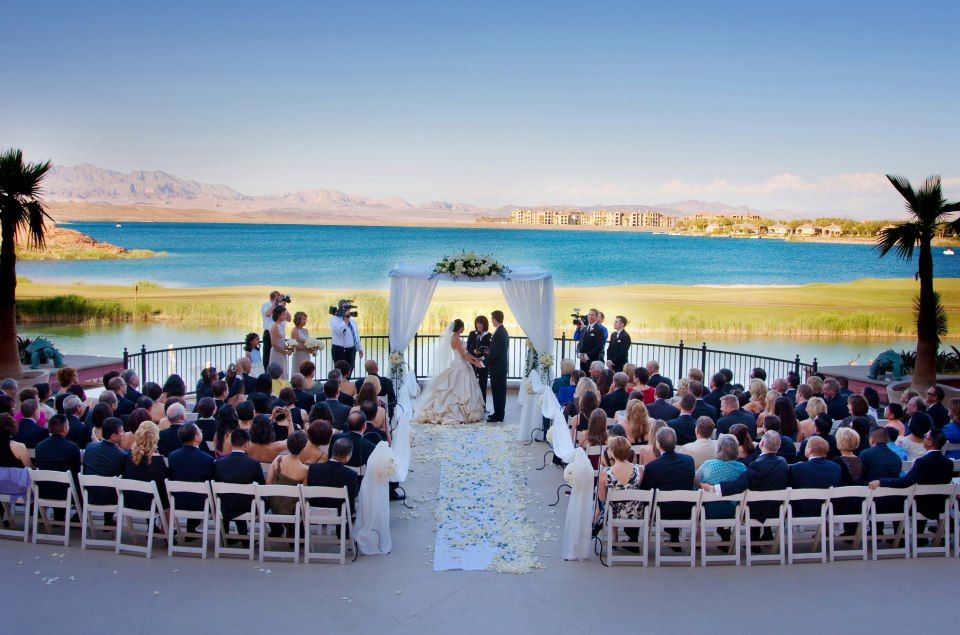 Blue Water Behind A Beautiful Ceremony
