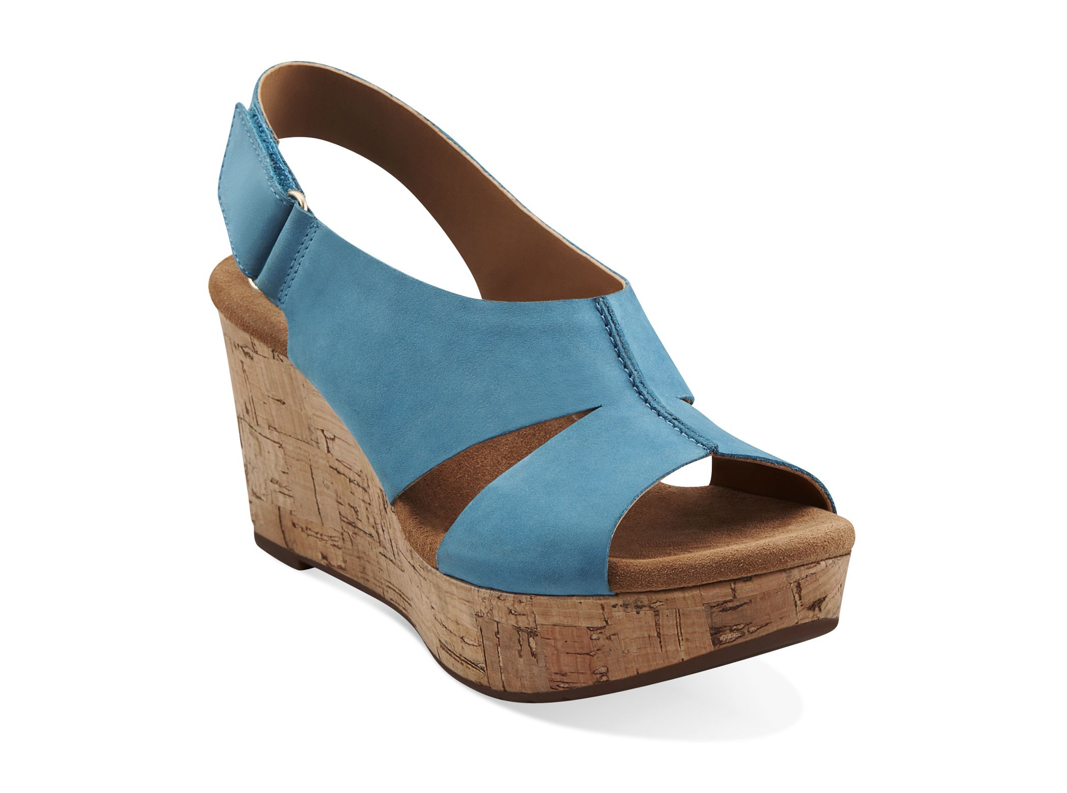 fd6c48566 These are the most comfortable shoes I ve purchased in a long time! Caslynn  Lizzie in Teal Nubuck - Womens Sandals from Clarks