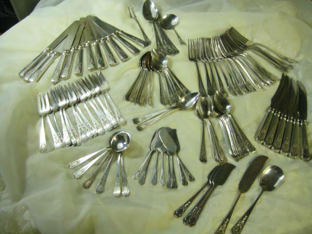 104 piece Lot 1908 Madame Jumel Pattern Sterling Silver Flatware Gorham Whiting