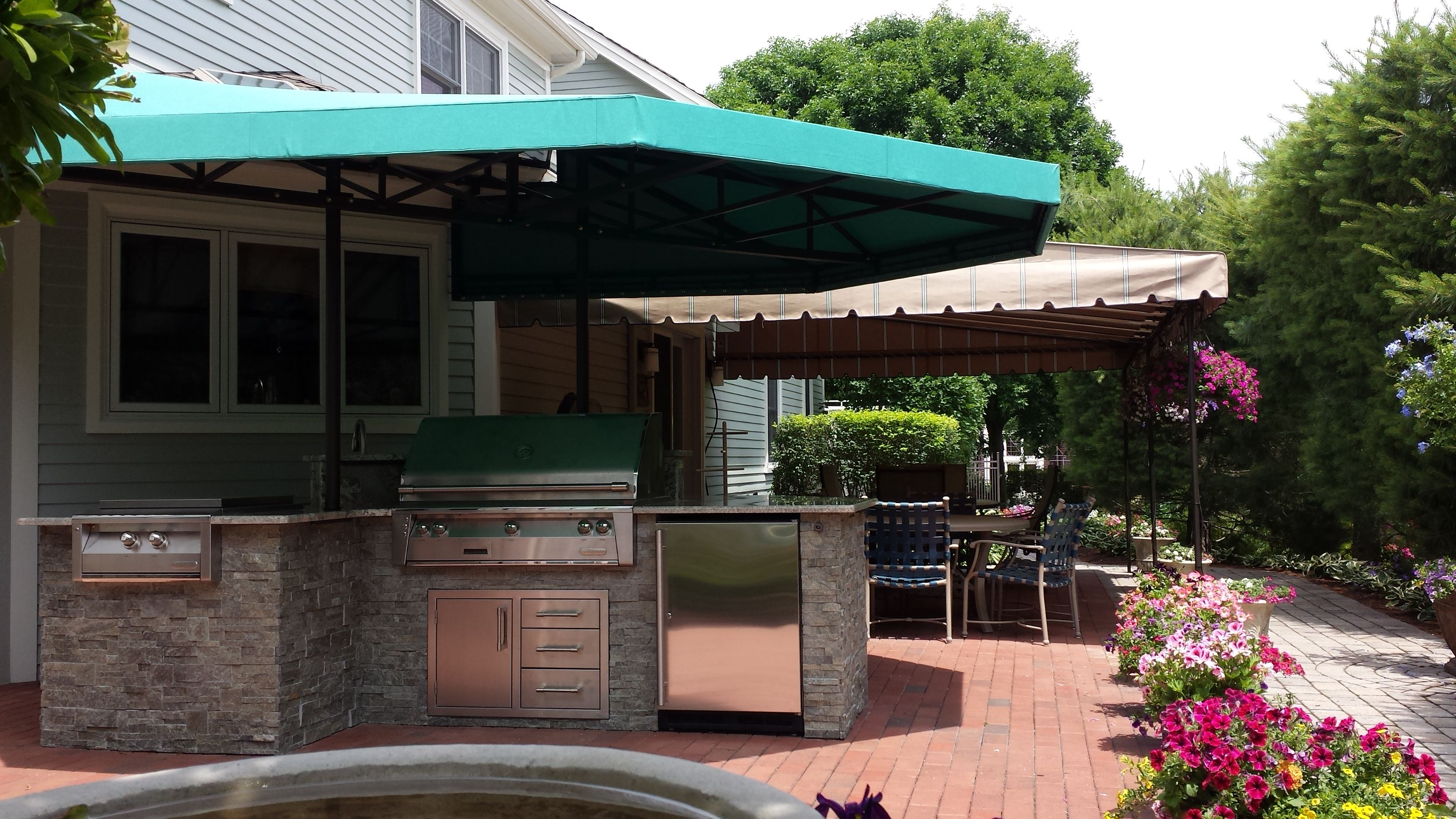 Outdoor Kitchen canopy cover | Kreider's Canvas Service ...
