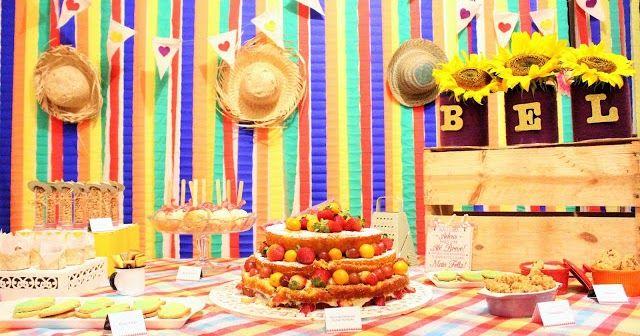 festinha DIY, backdrop papel crepon, festa junina, fundo de mesa, cortina de papel crepon  -> Decoração De São João Com Papel Crepom