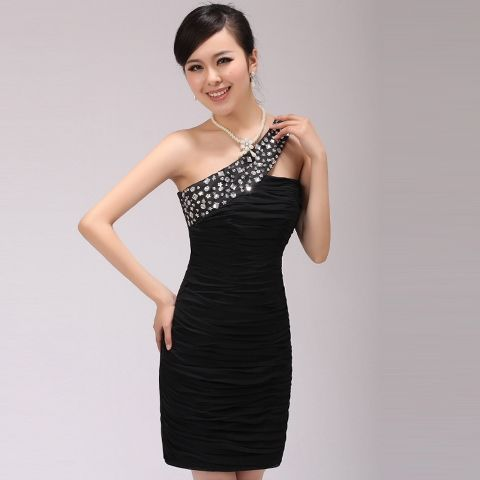Model Gaun Pesta Pendek Hitam Elegan Vestidos Hermosos