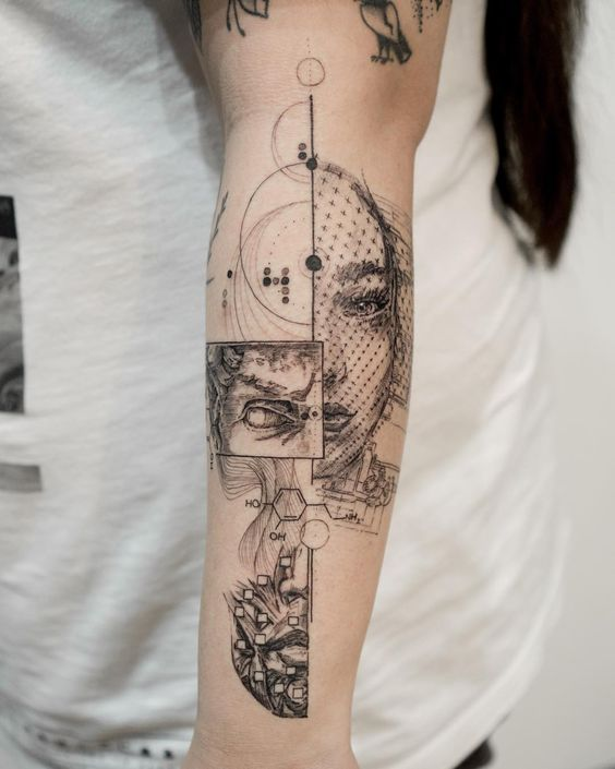 Etching Tattoo (Linework) - Highly Addictive and Endless Level of Details #tattoodesigns