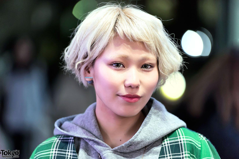 Cute short blonde japanese hairstyle rosas hair pinterest