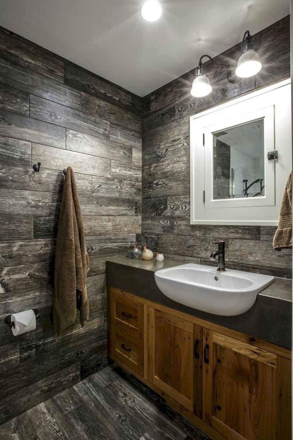 60 Rustic Master Bathroom Remodel Ideas Rustic Bathroom Designs Rustic Bathroom Rustic Master Bathroom Master bathroom wall decor
