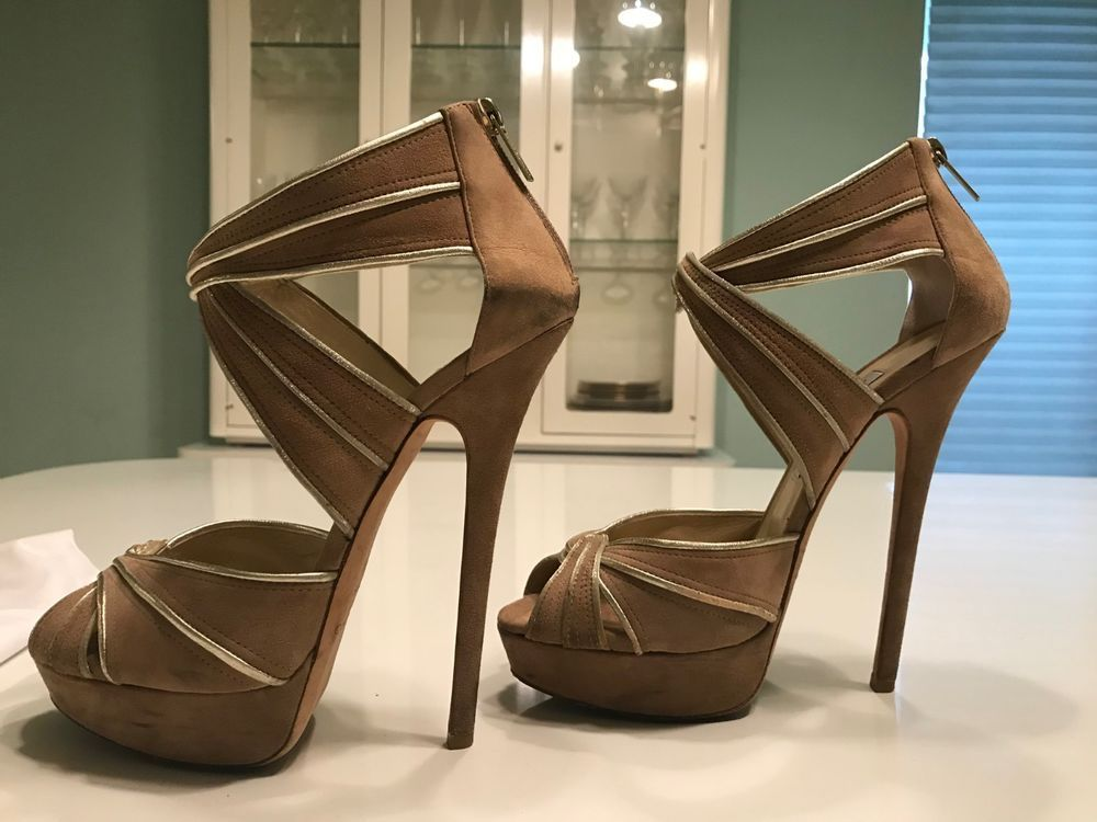 a4749d8fe3a Jimmy Choo Beige Koko Suede Platform Sandals Heels Shoes Size 40.5  fashion