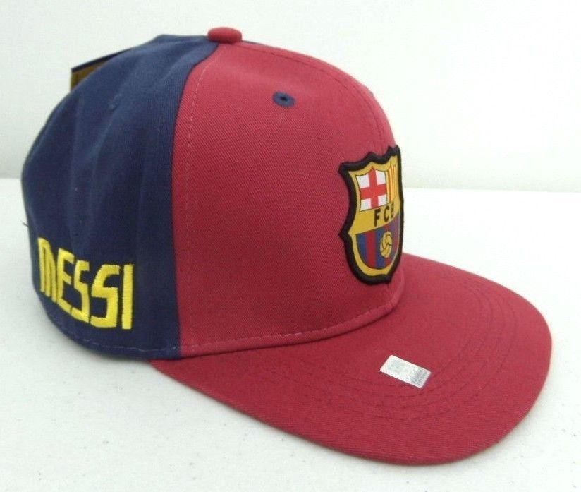 cef86d14f67 FC Barcelona Hat Snapback Messi Cap Official Merch Soccer Futbol Spain FCB  New  FCBarcelona
