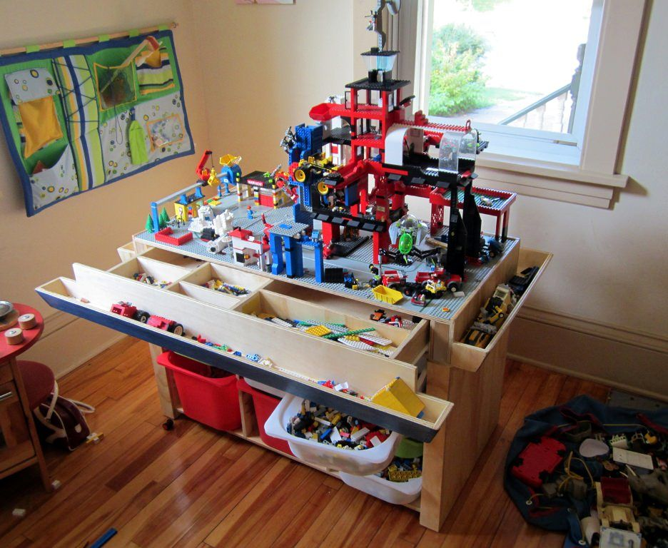 Wooden Lego Tables With Storage Facebook Twitter Google+ Pinterest  StumbleUpon Email