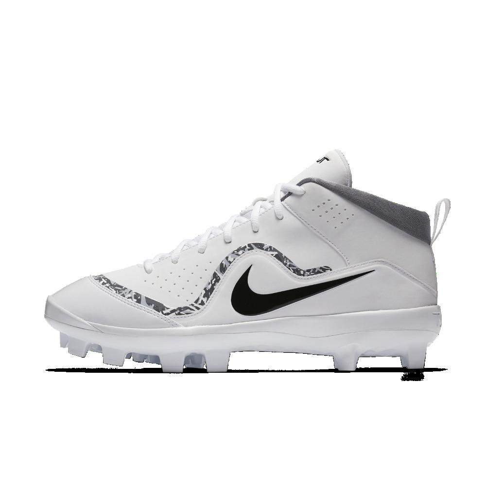 15fad3f63 Nike Force Air Trout 4 Pro MCS Men s Baseball Cleats Size 11.5 (White)   baseballcleats