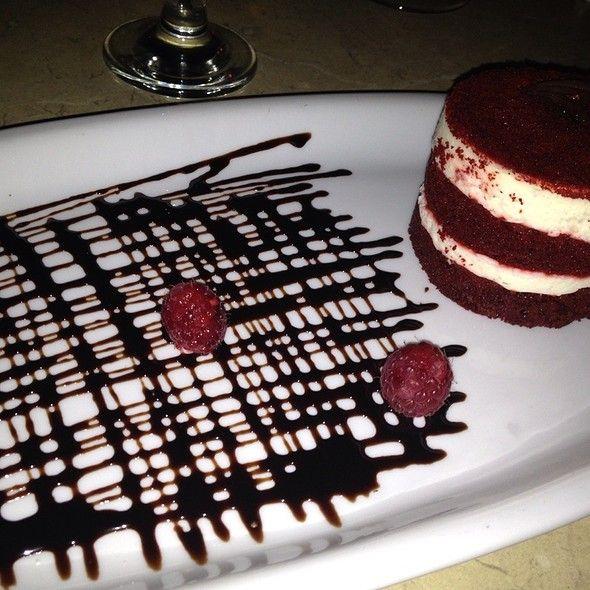Red Velvet Cake at Cávo in , NY Modernspacesnyc.com