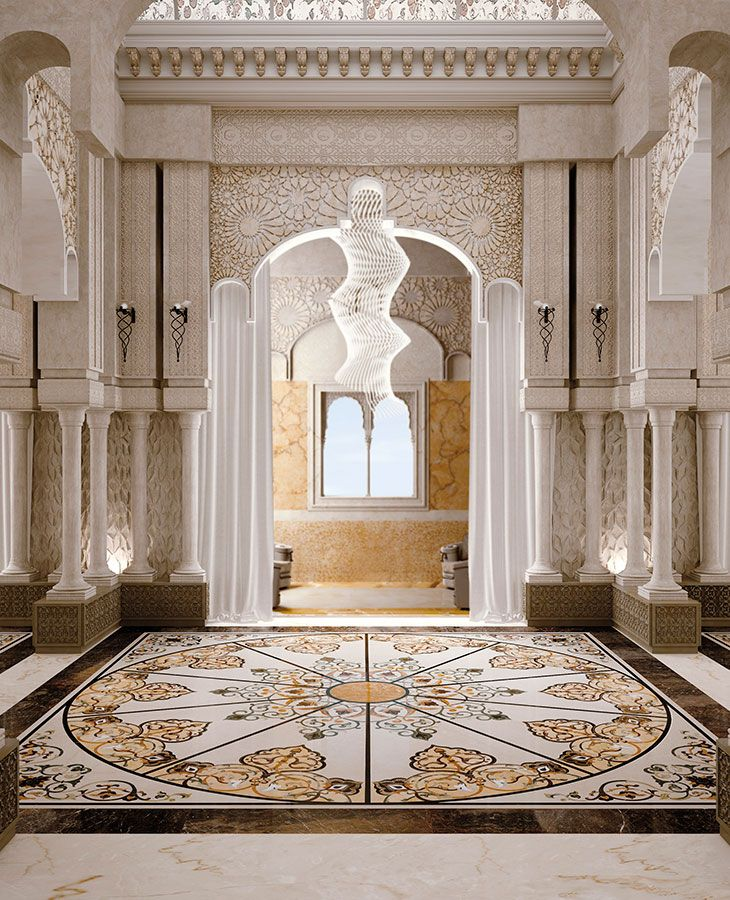 Classic interiors luxury budri italian marble inlay for Luxury classic interior design