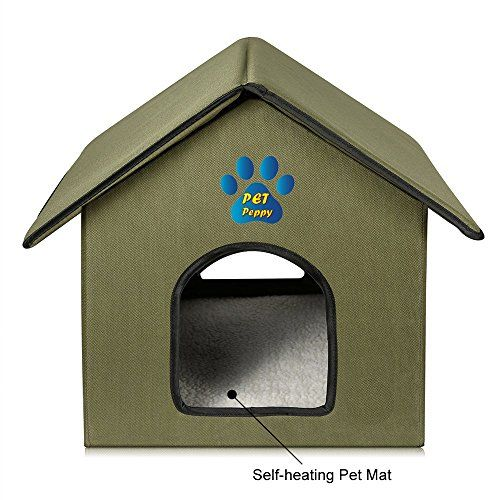 Outdoor Indoor Cat House By Pet Peppy Premium Quality The Pet Peppy S Pet House Is Made From 600 Denier Nylo Cat Houses Indoor Outdoor Cat House Indoor Cat