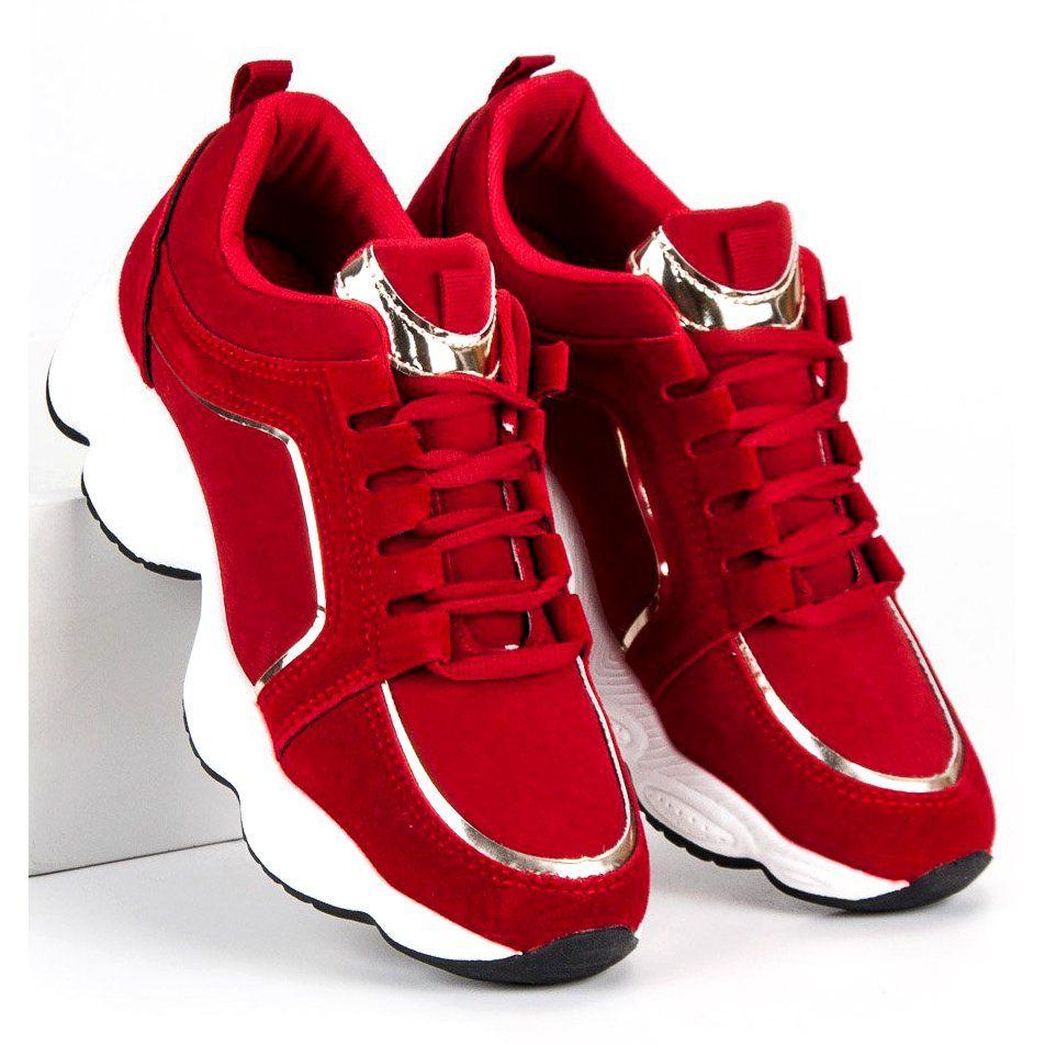 Sportowe Damskie Vices Vices Czerwone Zamszowe Buty Sportowe Vices Wedge Sneaker Sneakers Nike Air Jordan Sneaker