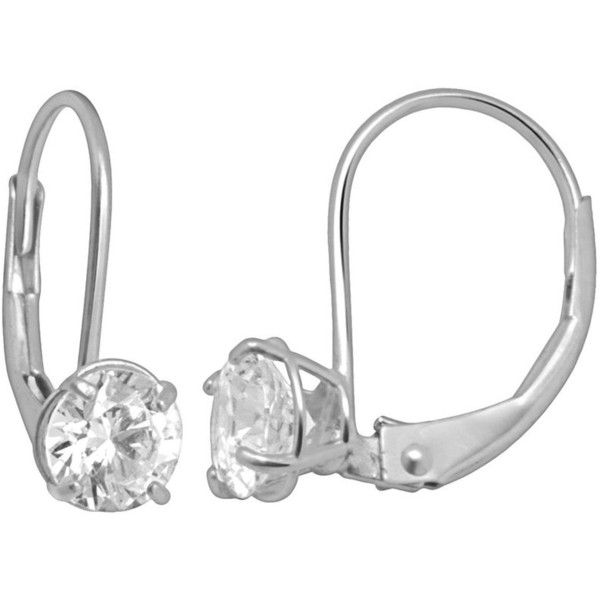 Renaissance Collection 10k White Gold 1 Ct T W Cubic Zirconia Drop 6840 Rsd Liked White Gold Drop Earrings White Gold Jewelry Cubic Zirconia Earrings