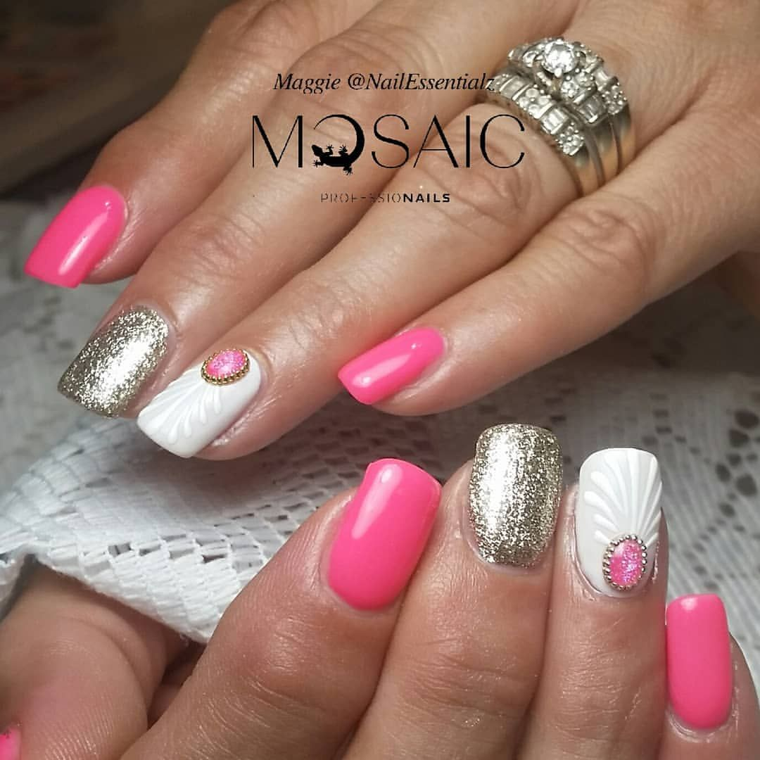Inspired By Nailsbymanna Products And Training Available At Your Local Mosaic Distributor Or Www Nailessentialz Com M Nails Acrylic Nail Art Acrylic Nails
