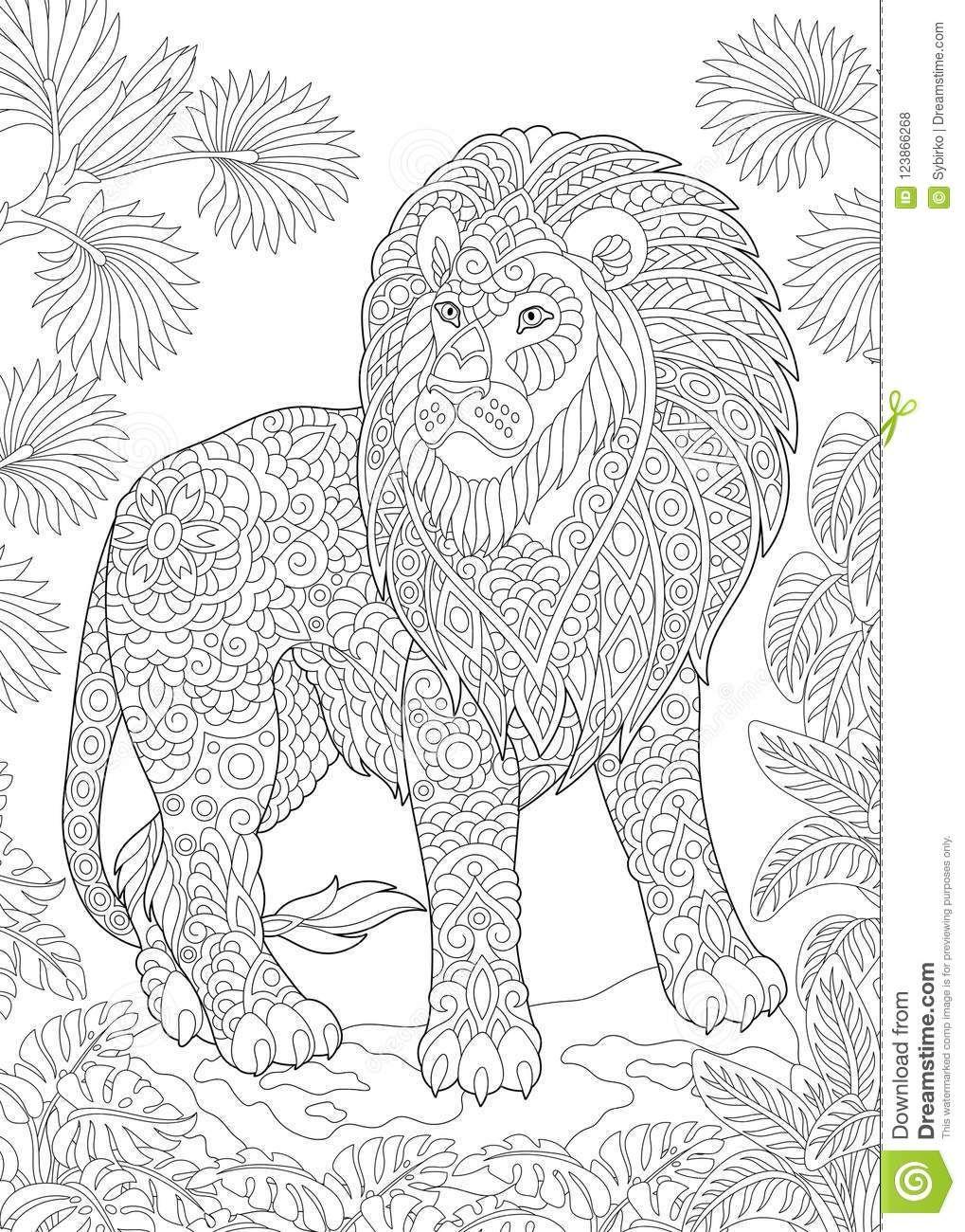Pin Von Barbara Auf Coloring Lion Tiger Ausmalbilder Mandala Ausmalen Mandalas Zum Ausmalen