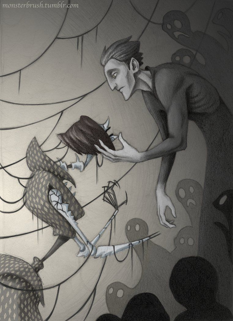 Pitch Black And The Beldam By Monsterbrush Deviantart Com On Deviantart Cartoon Crossovers Rise Of The Guardians Coraline Art