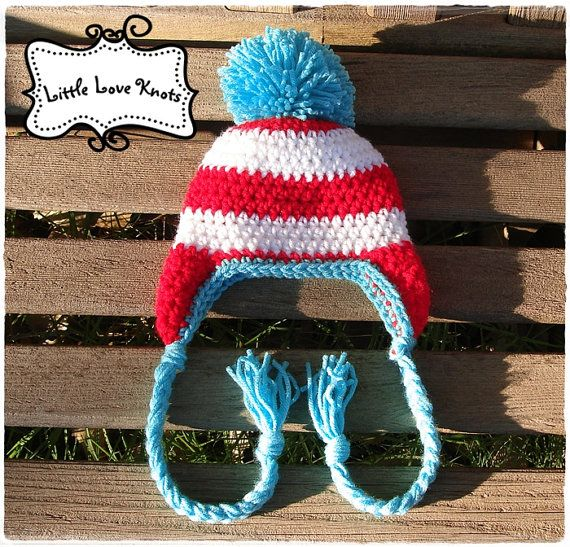 Dr Seuss Inspired Earflap Hat Photography Prop Shower Gift
