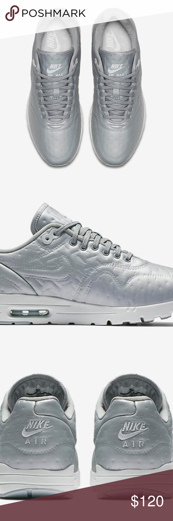 96d802cafc Nike Air Max 1 Ultra Premium Jacquard Women's Shoe Deadstock Silver Metallic  Sz 8.5 Style #