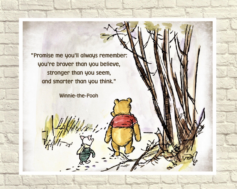 Classic Winnie The Pooh Pooh Wall Art Winnie The Pooh Print