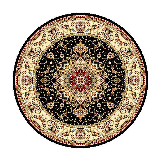 Safavieh Lyndhurst Traditional Oriental Black/ Ivory Rug (8u0027 Round), Size 8