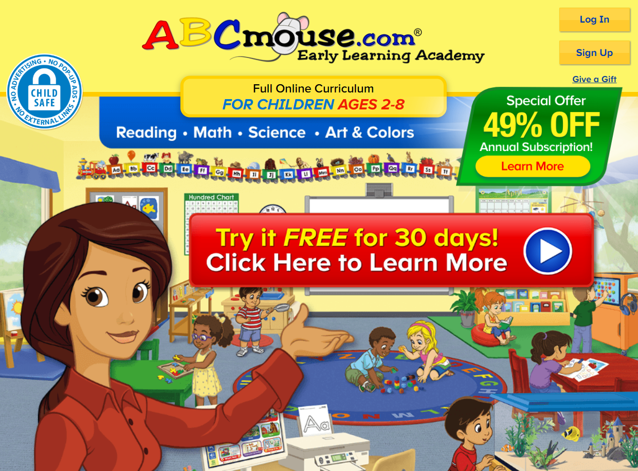 ABC mouse had games and activities for reinforcing reading