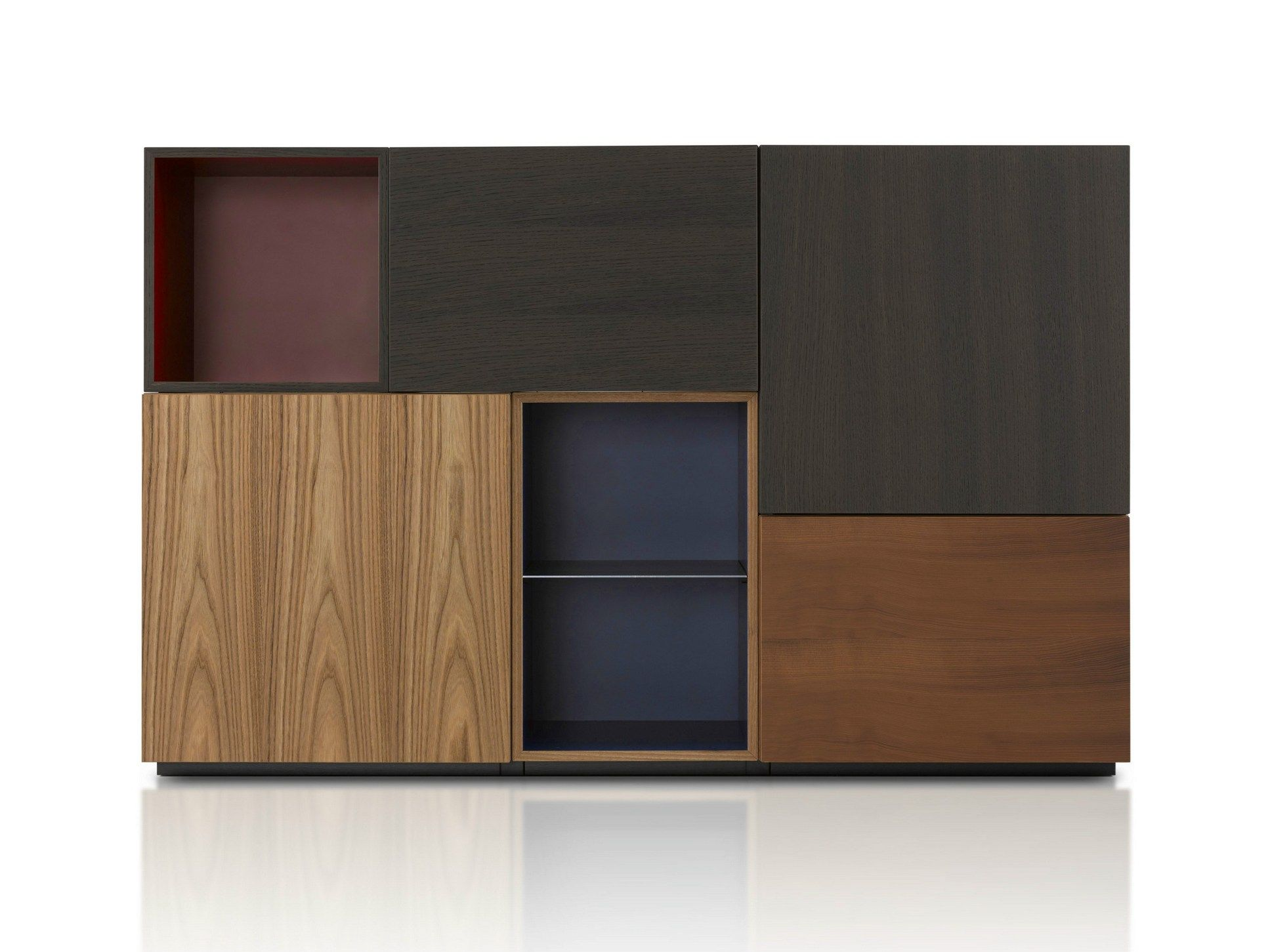 Wooden Highboard With Doors Modern Collection By Porro - Design