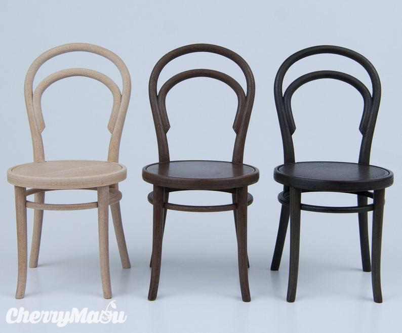 Thonet Chair N14 Scale 1 6 3d Print Miniature For Diorama Etsy In 2020 Thonet Chair Doll House Miniatures