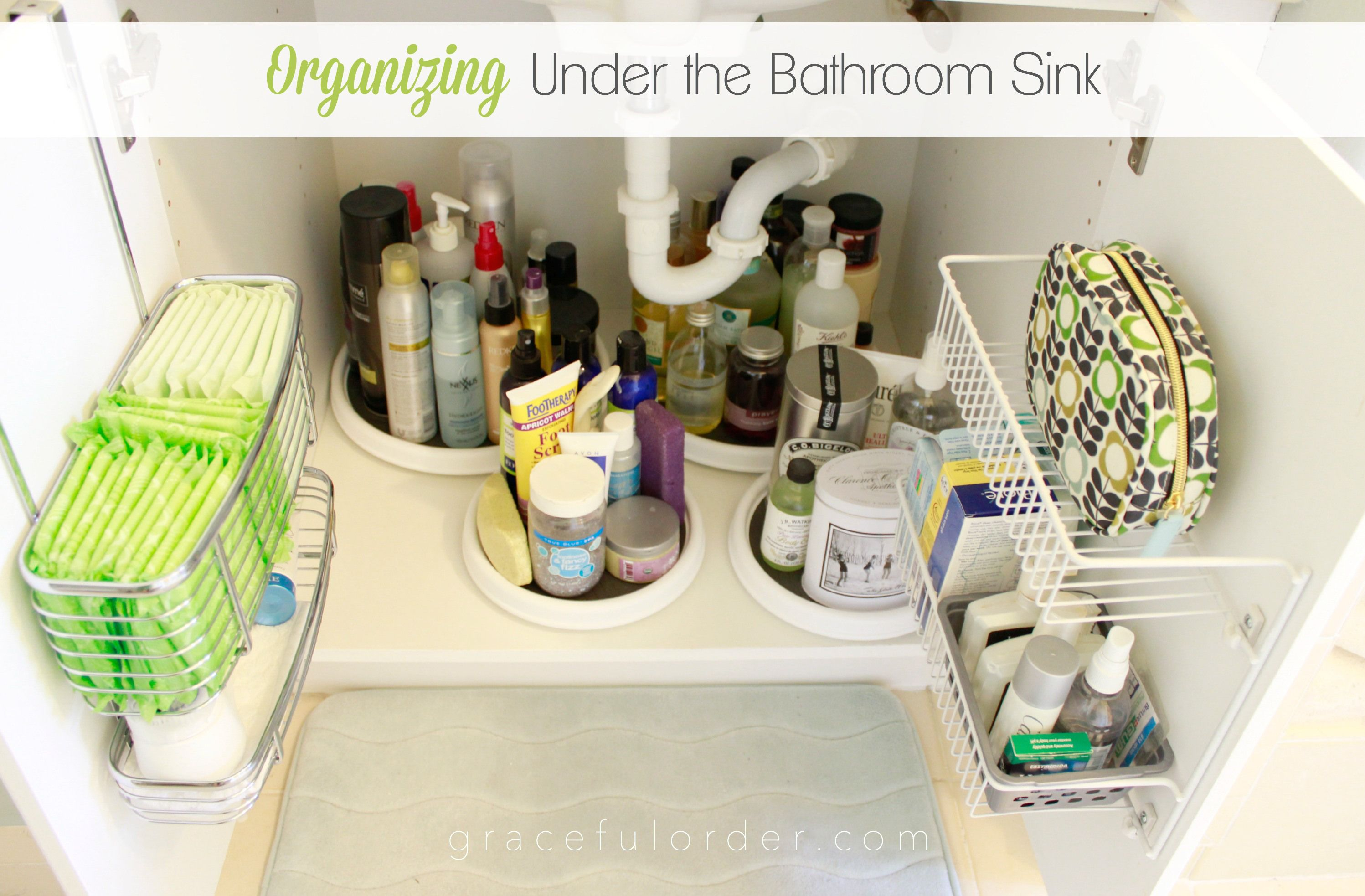 Organizing Under The Bathroom Sink With Over Cabinet